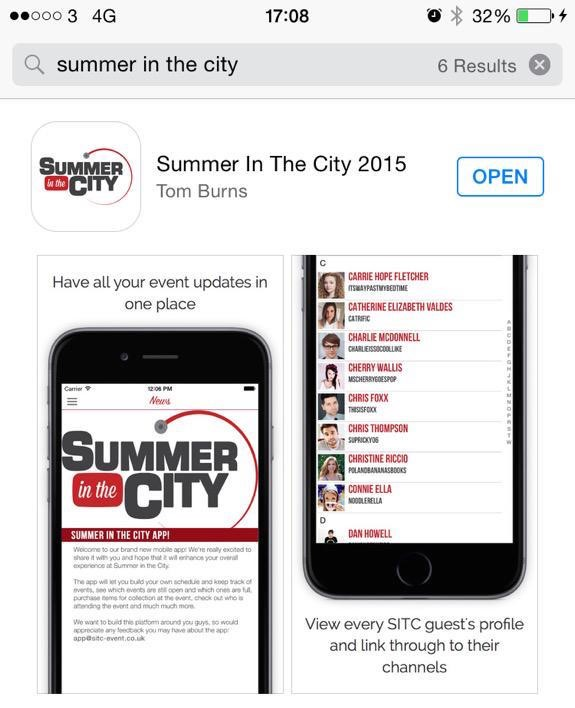Summer in the City App